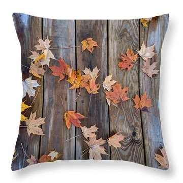 Autumn Leaves Fall Throw Pillow