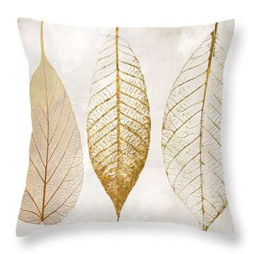 Autumn Leaves IIi Fallen Gold Throw Pillow by Mindy Sommers
