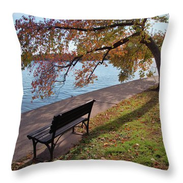Autumn Leaves In Dc Throw Pillow