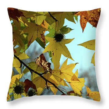 Autumn Leaves Throw Pillow by Joanne Coyle