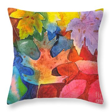 Autumn Leaves Recycled Throw Pillow
