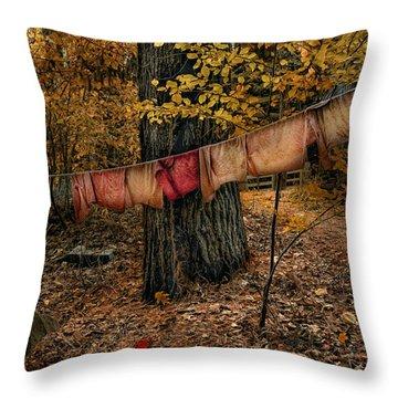 Autumn Linens Throw Pillow