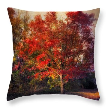 Autumn Maple Throw Pillow by Jessica Jenney