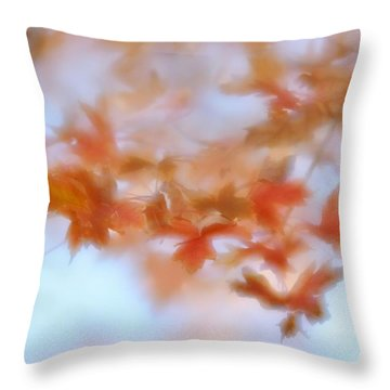Autumn Maple Leaves Soft Throw Pillow by Diane Alexander