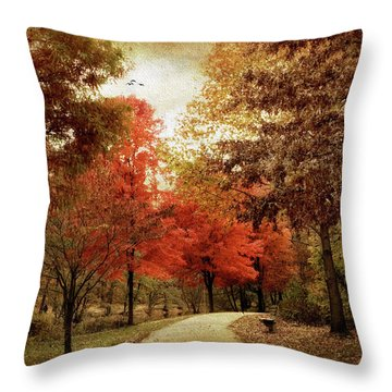 Autumn Maples Throw Pillow