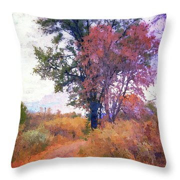 Autumn Melancholy Throw Pillow