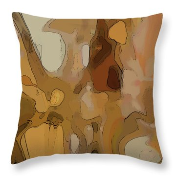 Throw Pillow featuring the digital art Autumn Melange by Gina Harrison