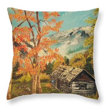 Throw Pillow featuring the painting Autumn Memories by Sharon Duguay