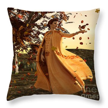 Throw Pillow featuring the digital art Autumn by Methune Hively
