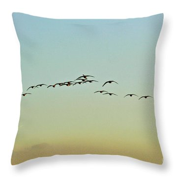 Autumn Migration Throw Pillow