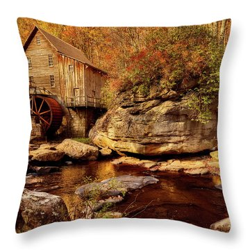 Autumn Mill Throw Pillow by L O C