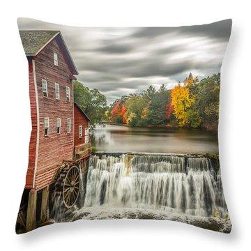 Autumn Mill Throw Pillow by Mark Goodman