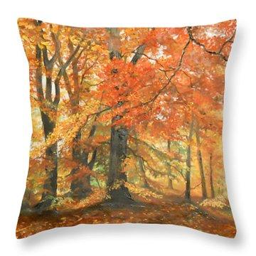 Autumn Mirage Throw Pillow