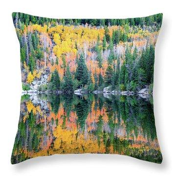 Autumn Mirror At Bear Lake Throw Pillow