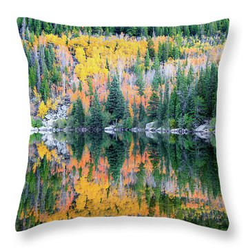 Autumn Mirror At Bear Lake Throw Pillow
