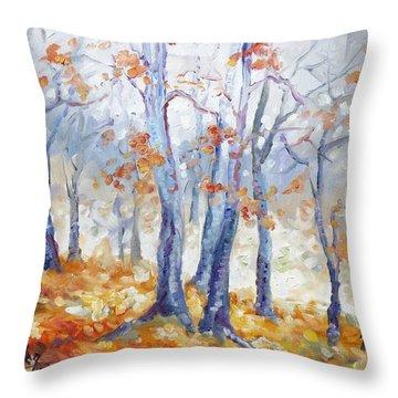 Autumn Mist - Morning Throw Pillow