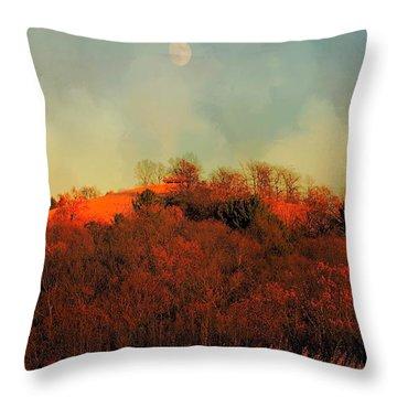 Autumn Moonrise Throw Pillow