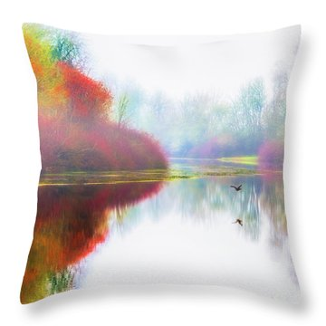 Autumn Morning Dream Throw Pillow