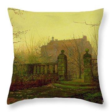 Autumn Morning Throw Pillow by John Atkinson Grimshaw