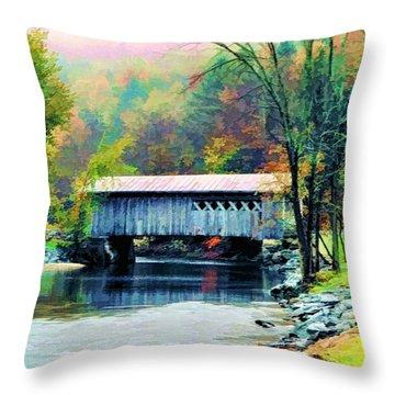 Autumn Morning Mist 2 Throw Pillow by Dan Dooley