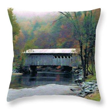 Autumn Morning Mist Throw Pillow by Dan Dooley