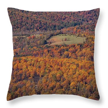 Autumn Mountain Side Throw Pillow