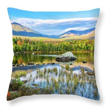 Autumn Mt.katahdin Baxter Sp Maine Throw Pillow