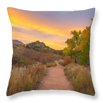 Autumn Mystique Throw Pillow