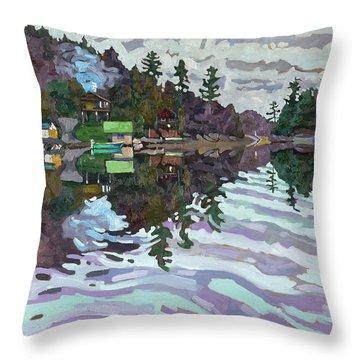 Autumn Narrows Throw Pillow