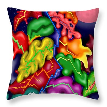 Autumn Night I Throw Pillow