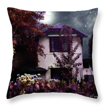 Autumn Night In The Country Throw Pillow by RC deWinter