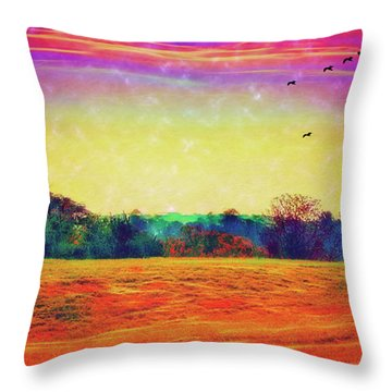 Autumn On Earth Two Throw Pillow