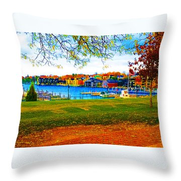 Autumn On Lake Charlevoix Throw Pillow