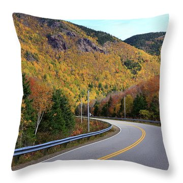 Autumn On The Cabot Trail, Cape Breton, Canada Throw Pillow