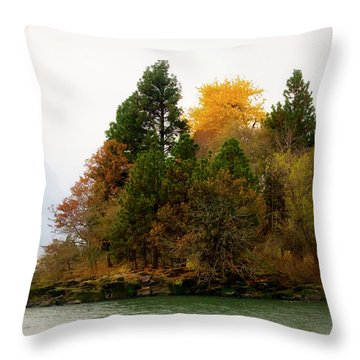Throw Pillow featuring the photograph Autumn On The Columbia by Albert Seger