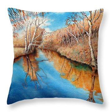Autumn On The Elkhorn Throw Pillow