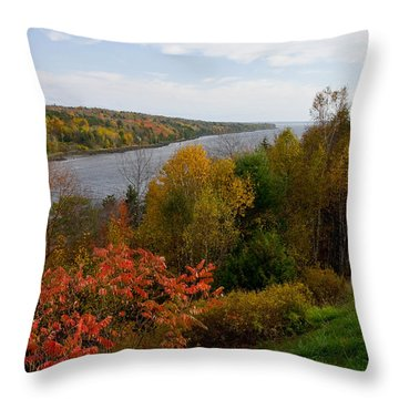 Autumn On The Penobscot Throw Pillow