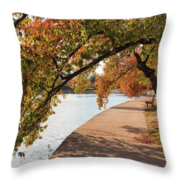 Autumn On The Tidal Basin Throw Pillow