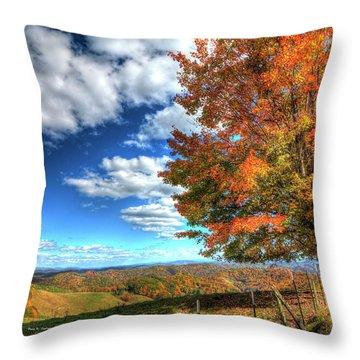 Autumn On The Windfall Throw Pillow