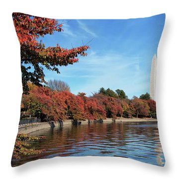 Autumn On Tidal Basin Throw Pillow