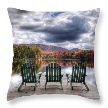 Throw Pillow featuring the photograph Autumn On West Lake by David Patterson