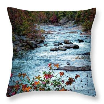 Autumn On Wilson Creek Throw Pillow