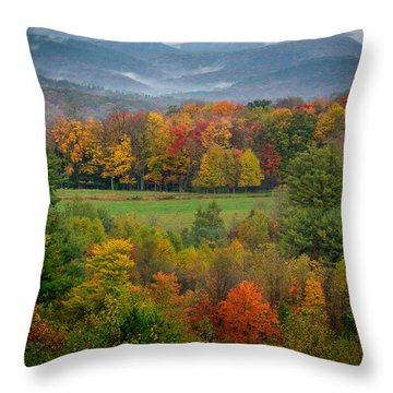 Throw Pillow featuring the photograph Autumn On Winslow Hill by Cindy Lark Hartman