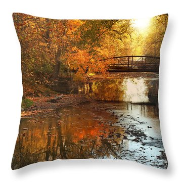 Autumn Over Furnace Run Throw Pillow