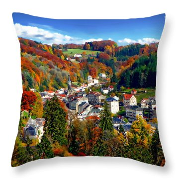 Autumn Panorama Throw Pillow