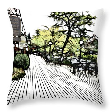 Autumn Patio Throw Pillow