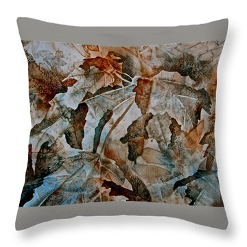 Throw Pillow featuring the painting Autumn Patterns by Carolyn Rosenberger