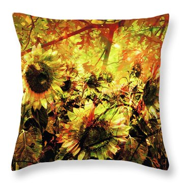 Autumn Throw Pillow by Paul Drewry