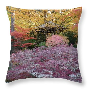 Autumn Purple Throw Pillow by Carol Groenen