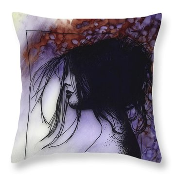 Throw Pillow featuring the painting Autumn by Ragen Mendenhall